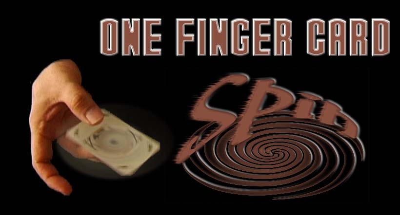 One Finger Card Spin
