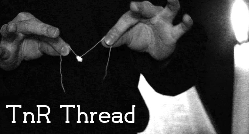 Torn and restored thread
